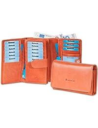 Rimbaldi® - Damengeldbörse mit besonders viel Platz aus naturbelassenem Rinderleder