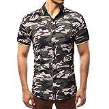 4a8709f078f XuanhaFU Polo para Hombre de Manga Corta Casual Solapa de Camuflaje Verano  Camisas Camiseta (Ejercito Verde,L)