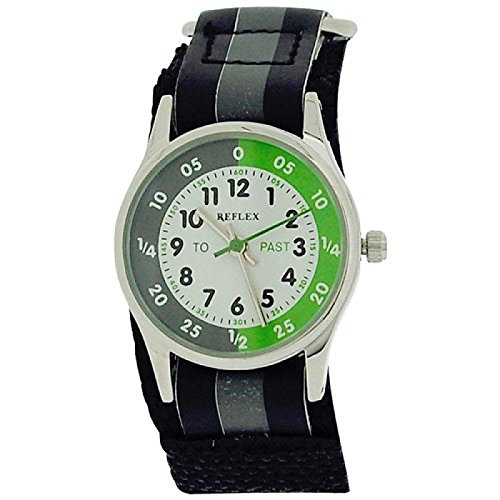 Reflex-Time-Teacher-Black-Grey-Velcro-Strap-Boys-Childrens-Watch-REFK0003