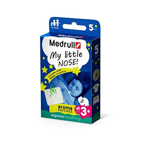 """Medrull Inhalator für Kinder und Erwachsene\""""My little nose\"""" Aroma Pflaster 5 Stück"""