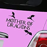 Aerialballs Sticker vinyle pour voiture Game of Thrones Mother of Dragons Noir