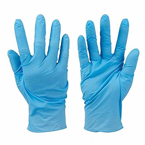 Nitril Handschuhe Einweg 100PK–puderfrei Handschuhe in Blau für zahnexperten, Tattoo Künstler, Spas, Labor Einstellungen. Hausmeisterarbeiten Supplies L blau