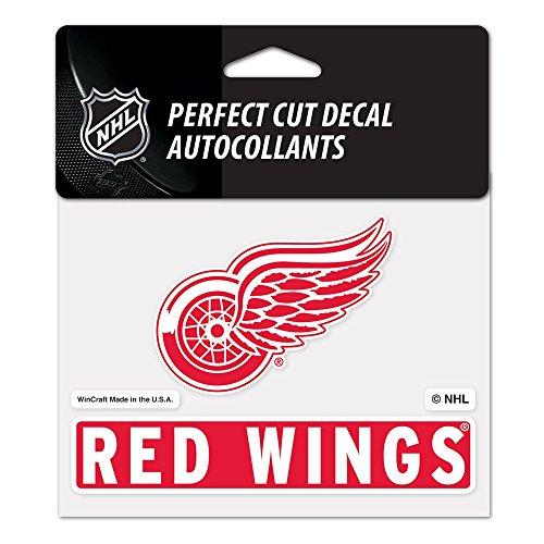 Wincraft Snack-Schale NHL Detroit Red Wings wcr72819014Perfekten Schnitt Farbe Aufkleber, 11,4x 14,6cm Nhl-aufkleber