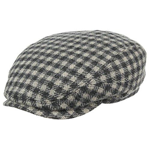 Casquette Plate Belfast Wool Stetson casquette plate bonnet en laine gris fonce
