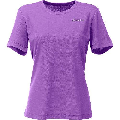 Odlo Catherine T-shirt fonctionnel d'extérieur à manches courtes et col ras du cou pour femme Violet - Violet
