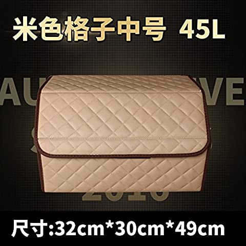 Boite Carreaux Beige - véhicule automobile trunk, boîte, boîte de rangement,