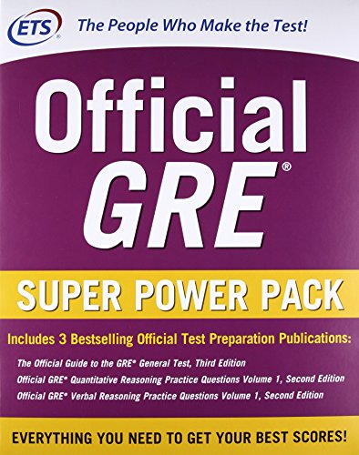 Official GRE super power pack: The official guide to GRE. General test-Official GRE quantitative reasoning. Practice questions-Official GRE verbal ... questions (Economia e discipline aziendali)