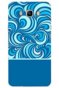 AMAN Flow Of Colours 3D Back Cover for Samsung Galaxy J7 (2016)