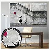 Great Art XXL Poster - Banksy Art Balloon Girl - Wandbild Dekoration There is Always Hope Banksy Girl Balloon Banksi Street Style Stencil Wandposter Fotoposter Wanddeko (140 x 100 cm)