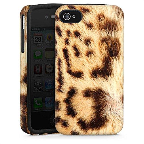 Apple iPhone 4 Hülle Tough Case Schutzhülle Leopard Raubkatze Fell (Leopard-druck Iphone 4 Case)