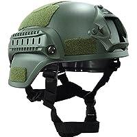 mich-2000estilo táctico casco con NVG Mount, Side Rail y velcro, hombre, verde