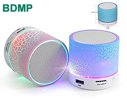 BDMP Latest Wireless LED Bluetooth Speaker Compatible Certified with Samsung, Motorola, Sony, Oneplus, HTC, Lenovo, Nokia, Asus, Lg, Coolpad, Xiaomi, Micromax and All Android Mobiles. Music Walk Wireless Led Lights Bluetooth Speaker Mp3 Player & Fm Radio Speaker Rechargeable Audio Outdoor Speaker & Car Audio Speaker MIc For Call Answering & Calling. USB Port, MIcrosd Card Slot (Assorted Colour)  available at amazon for Rs.224