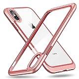 ESR Coque pour iPhone XS/X Rose, iPhone 10 Coque Silicone Rigide Transparente Double...