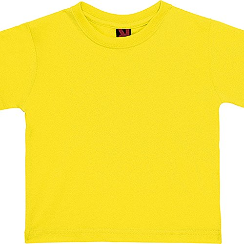 Camiseta de manga corta especial para bebe -ROLY (18 MESES, BLANCO)