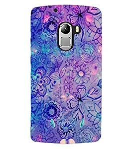 ColourCraft Floral Pattern Design Back Case Cover for LENOVO VIBE X3 LITE