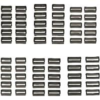 Baoblaze Weißer Silikon-Kautschuk-Uhrenarmband-Band-Keeper-Halter-Retainer-Bügel-Schleife 10 Stücke - 18mm Schmal