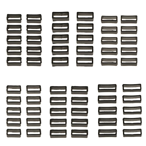 Baoblaze Weißer Silikon-Kautschuk-Uhrenarmband-Band-Keeper-Halter-Retainer-Bügel-Schleife 10 Stücke - 18mm Schmal (Weiß Uhrenarmbänder)