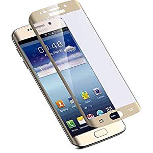 Kapa Colored Curved Full Coverage Tempered Glass Screen Guard for Samsung Galaxy S6 Edge + (Plus) - Gold