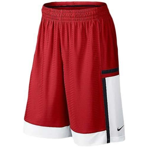 Nike Velocity Herren Basketball Short, Herren, White/Black/University Red, Large