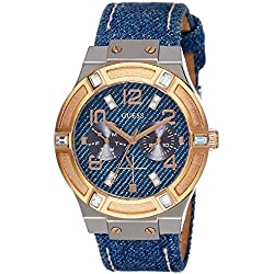 Guess W0289L1 Ladies Sport - Wristwatch Women's, Leather, Band Colour: Blue
