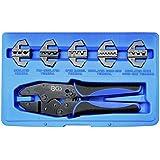 BGS Technic 1410 Coffret de Pince à sertir avec 5 mâchoires pour cosses