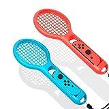 YIKESHU Tennis Rackets für Nintendo Swith Joy-Con Controller,Zubehör für Mario Tennis Aces Game (Blau und Rot)
