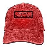 Rundafuwu Cappellino da Baseball/Hat Trucker cap Why Pattern Jeans cap Adjustable Hat Unisex Cappellino da Baseball Red,Wear Comfortable