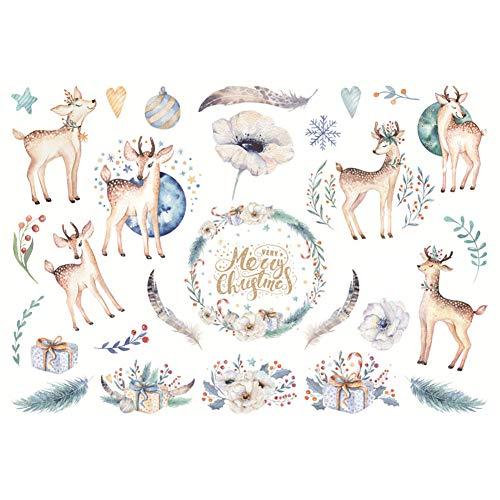 CAOLATOR Sticker Weihnachten Aufkleber für Mädchen, Jungen und Babys Deko Papier Stickerbögen für Stickerbuch Tagebuch Fotoalbum Notizbuch Kalender Dekoration Scrapbooking, -