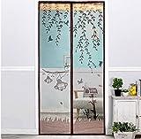 Fliegengitter Tür Insektenschutz Magnet Fliegenvorhang und mit Full-Frame Velcro,Vorhang für Balkontür Wohnzimmer Schiebetür Terrassentür -B 85x200cm(33x79inch)