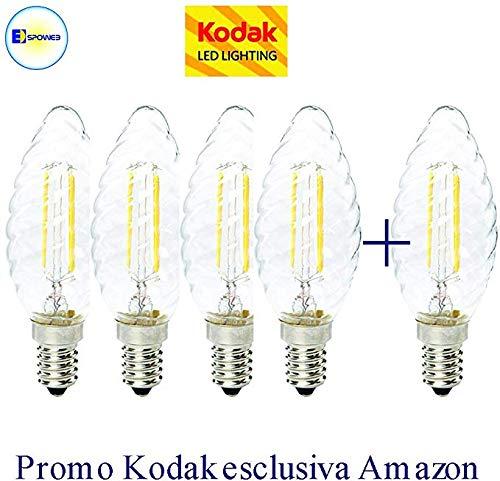 Box 4+1 Lampada E14 LED DIMMERABILE 4Watt Oliva Tortiglione luce bianca calda o naturale (4000K°)