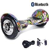 Cool&Fun Hover Board/Skateboard/Gyropode Éléctrique Auto-équilibrage Bluetooth Scooter Trottinette Électrique 10 Pouces,Pneu Gonflable (Zicai)
