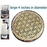 """Orgonite energía orgón 4posavasos de """"de la flor de la vida de agua de carga placa reversible cúpula"""