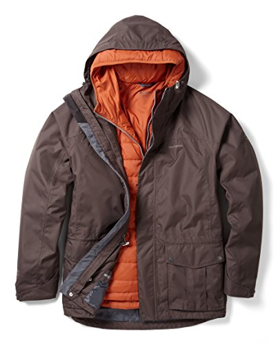 Craghoppers Herren Kiwi-in Komprimieren Lite Jacke Umber Brown/Bright Orange