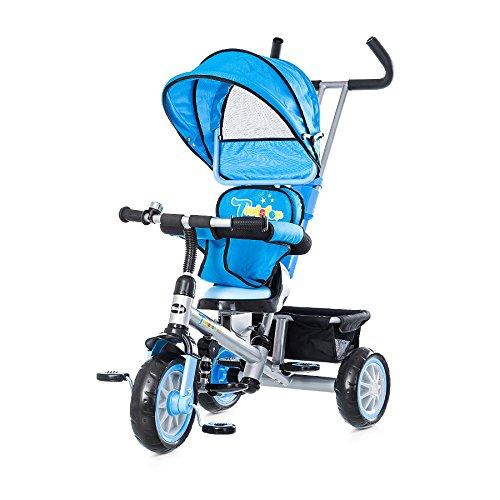 Chipolino TRKT01502PU Dreirad mit Sonnendach, Wirbelwind, lila