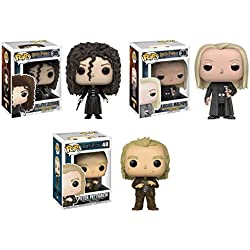 Funko POP! Harry Potter: Bellatrix Lestrange + Lucius Malfoy + Peter Pettigrew