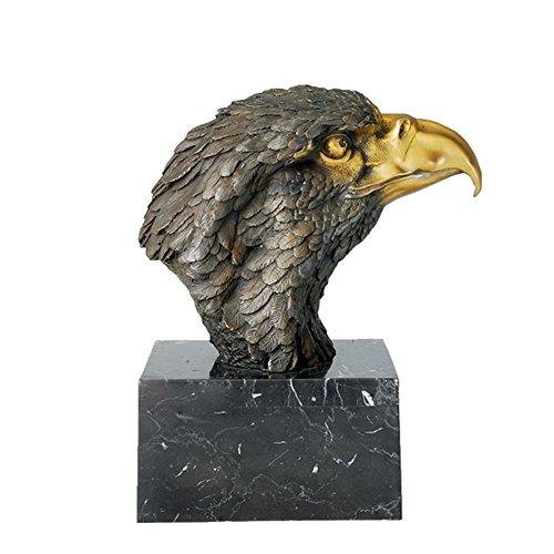 Toperkin Bronze Statuen Tier Bust Adler Head Skulptur Medium Size Garten Statue TPAL-018