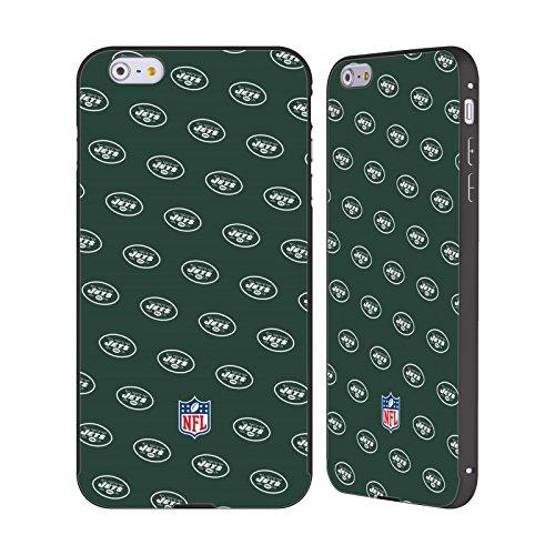 Ufficiale NFL LED 2017/18 New York Jets Logo Nero Cover Contorno con Bumper in Alluminio per Apple iPhone 5 / 5s / SE Pattern