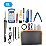 waterfail Soldering Iron,21 Sets Toolkit 60W Internal Heat Temperature Adjustment Household Electric Iron A830L multimeter