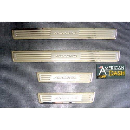 Edelstahl-select Türen (Honda Accord Chrom-Tür Sills Edelstahl Zubehör Einstiegleisten Prewoodec 2003 2004 2005 2006 2007)