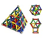 Fancyku 37 Pcs Educational Magnetic Building Blocks Toys Magnet Construction Build Kit Toys For Boys And Girls Playing Stacking Game With Magnetic Bricks And Sticks Gift Box Packaging
