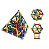 #10: Fancyku 37 Pcs Educational Magnetic Building Blocks Toys Magnet Construction Build Kit Toys for Boys and Girls Playing Stacking Game with Magnetic Bricks and Sticks Gift Box Packaging