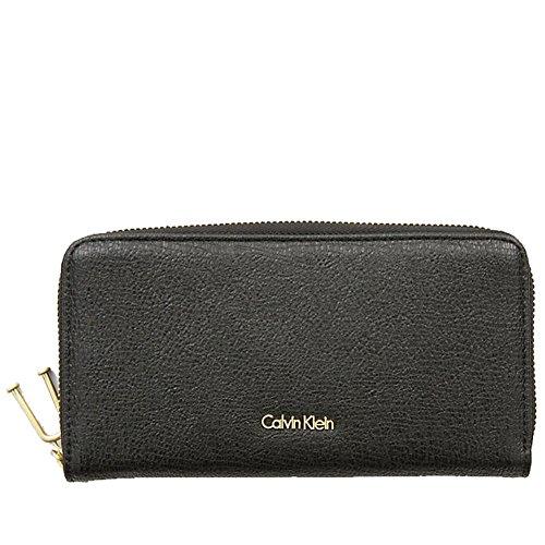 Calvin Klein Arch Large Zip Around Black