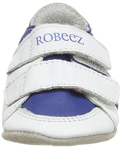 Robeez  Fast Feet,  Baby, Jungen Erstlaufschuhe (zum Stehen üben) Blue (White/Blue)