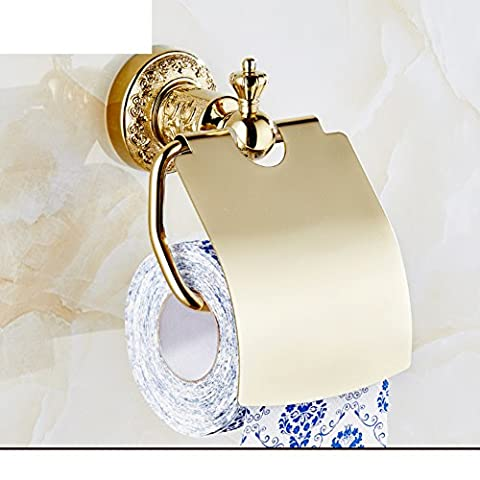 European-style Toilet Paper Holder Of Gold/Tissues Holder / Toilet Roll Holder/Rose Gold Toilet Tissue Box/Antique Bronze Toilet Paper Box-C