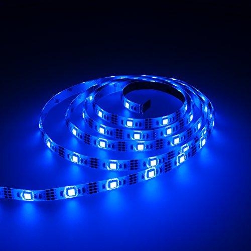 Smartfox LED Strip Leuchtstreifen Lichtband Leuchte Deko 200cm batteriebetrieben selbstklebend in blau