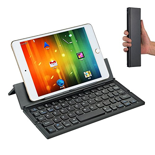 Bluetooth Tastatur, Cozyswan Ultradünne Wireless Keyboard Faltbare Minitastatur Universelle Tastatur für Windows PC/ Tablet/ Smartphone