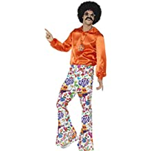 Smiffy s 44907l 60 DE Groovy de mecánico de Hombre Pantalones de (tamaño Grande