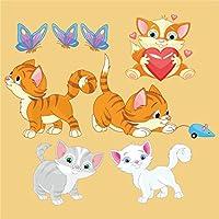 DekorLoft Şirin Kediler Çocuk Odası Sticker CS-270