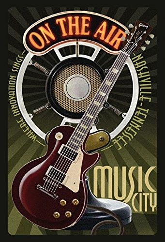ComCard Gitarre Music City Nashville Schild aus Blech Tin Sign