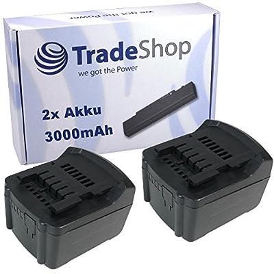 2x Hochleistungs Li-Ion Akku, 14,4V / 3000mAh für Metabo BS RC SB SSD SSW ULA 14.4 LT LTX Compact Impuls Quick ersetzt 6.25454, 6.25467, 6.25456, 6.25458, 6.25468, 6.25498 , 6.25526, C-98116